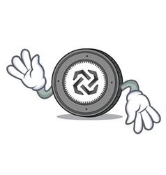 Crazy bytom coin mascot cartoon vector