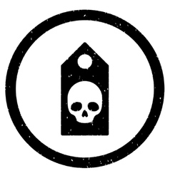 Death coupon rounded grainy icon vector