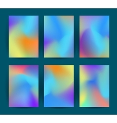 Fluid colorful backgrounds set vector image vector image