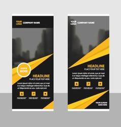 Gold roll up business brochure flyer banner design vector