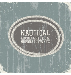 grunge background with rope label vector image vector image