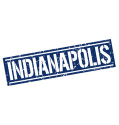 Indianapolis blue square stamp vector