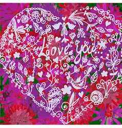 Love valentine background with heart vector image vector image