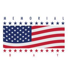 Memorial day label vector