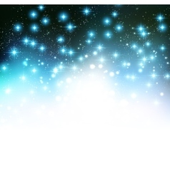 Merry Christmas Holiday background with shiny star vector image vector image