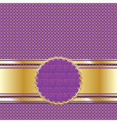 Ornate golden lilac background for presentation or vector
