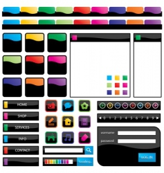 rainbow web objects vector image