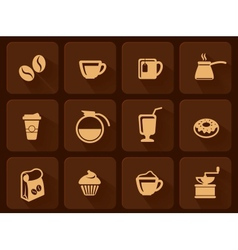 set of coffee icon vector image vector image