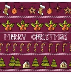 Sketch christmas card vector image