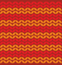 Tile knitting pattern or winter background vector