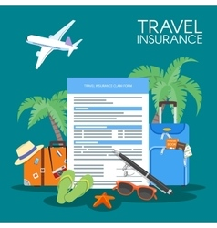 Travel insurance form concept vector image vector image