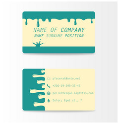 variety of detailed horizontal business cards on vector image vector image