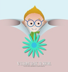 With backtoschool and geek vector