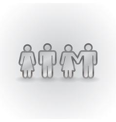Figures holding hands vector image