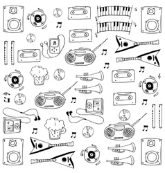 Object music tool in doodles vector