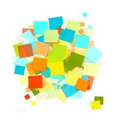 Heap of colorful stickers for your design vector
