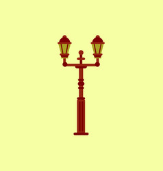 Retro vintage lamp post with electricity lantern vector
