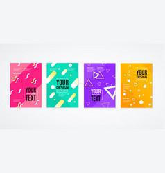 Placard poster or flyer template set vector