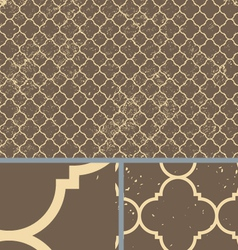 Vintage brown worn seamless pattern background vector