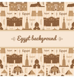 Landmarks of egypt background vector