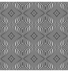 Design seamless monochrome whirl lines background vector