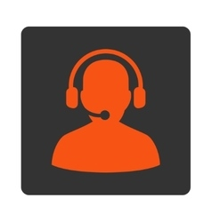 Telemarketing icon from commerce buttons overcolor vector