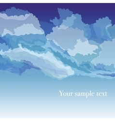 Background with sky and clouds vector