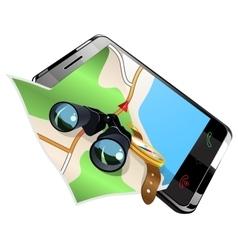 Navigation on smart phone vector image