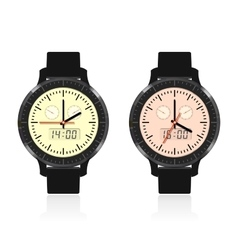 Modern and fashionable watch vector