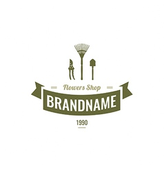 flowers Logotype Label Badge vector image