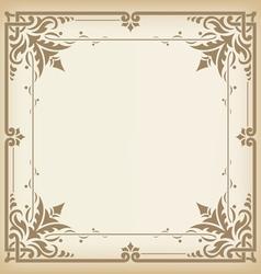 Seamless vintage border vector