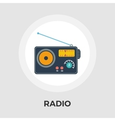 Radio flat icon vector