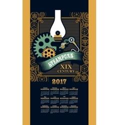 Calendar 2017 steam punk vector