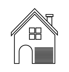 Home family house with door and windows vector