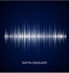 Abstract white music equalizer vector image