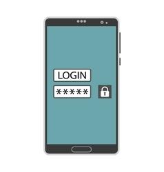 Account login screen vector image vector image