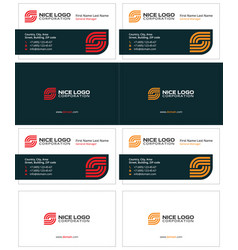 Business card internet service provider vector