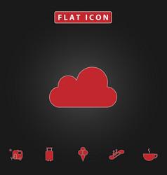 Cloud computer symbol vector