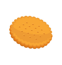 Cracker fresh pastry in flat vector