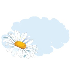 daisy and cloud vector image vector image