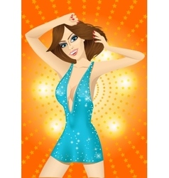 dancing girl in the night club vector image vector image