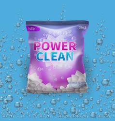 detergent design on bag package vector image