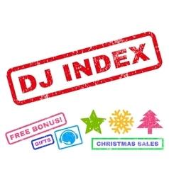 Dj Index Rubber Stamp vector image vector image