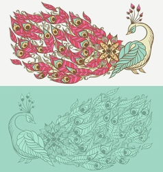 Drawing of mythical swan vector image vector image