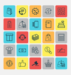 Ecommerce icons set collection of recommended vector