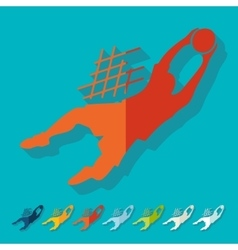 Flat design goalkeeper vector image