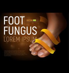 Foot fungus vector