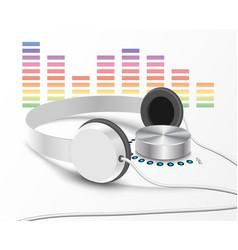 headsphones and volume controler 2 vector image vector image