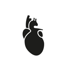 heart icon on white background vector image vector image