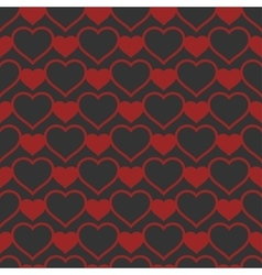 Heart shaped seamless pattern vector